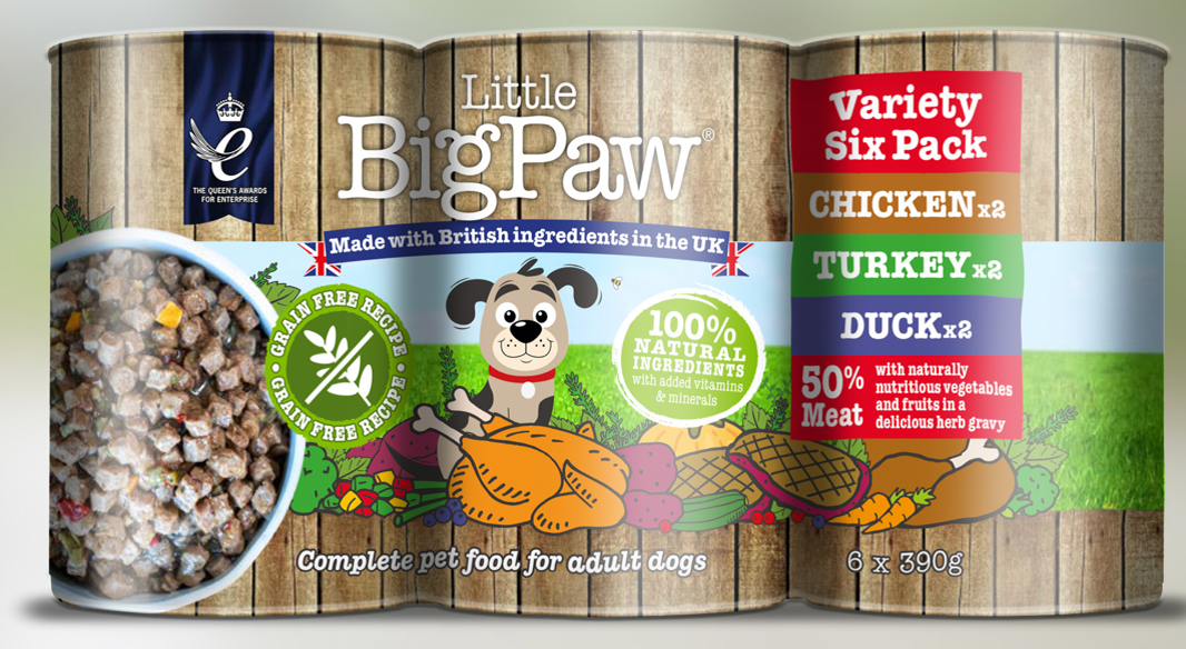 Little Big Paw - Chicken Duck Turkey -390 Grams