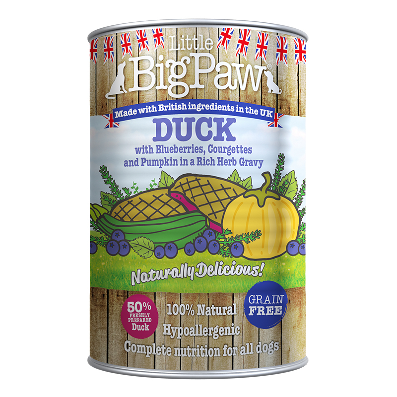 Little Big Paw - Duck and Blueberries - 390 Grams
